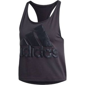 Adidas | Black Cropped Racerback Tank Top
